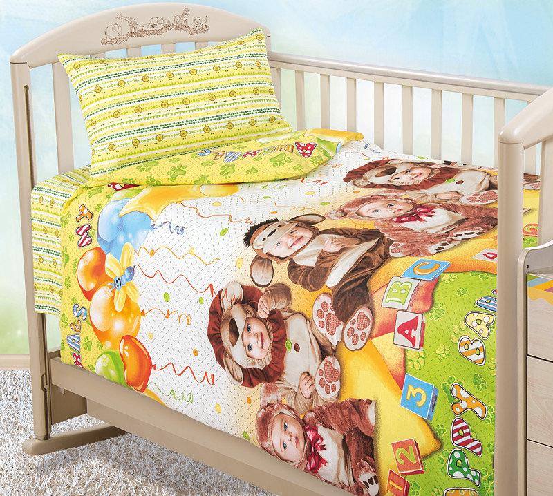 Постельное белье в кроватку, бязь Текс-Дизайн детский праздник Ясельное (В кроватку для новорожденных)