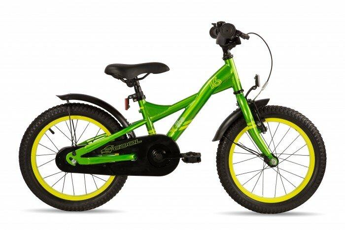 Велосипед двухколесный Scool XXlite 16 steel Зеленый