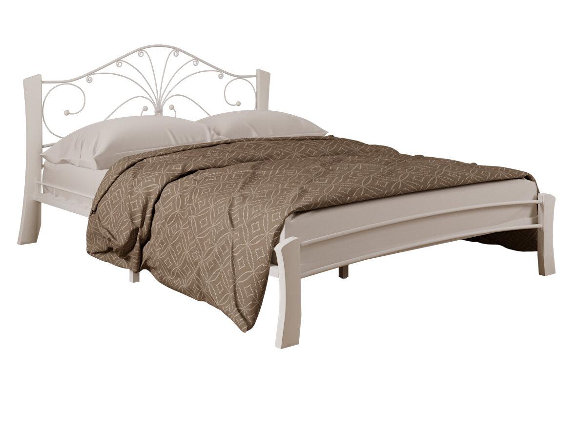 Двуспальная кровать Форвард-мебель Кровать Сандра Лайт Белый, 1600 Х 2000 мм