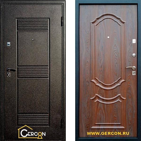 Входные двери Геркон - 3D Старое Дерево Дверь в квартиру