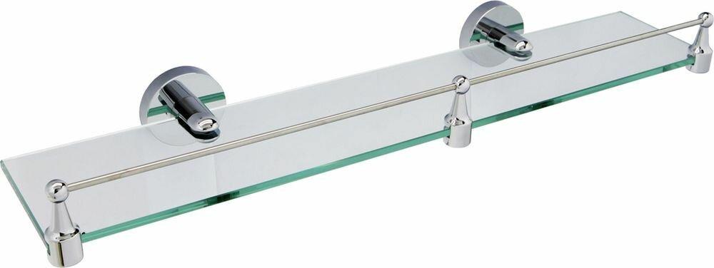 Полка для ванной комнаты WasserKRAFT, с бортиком. K-6244