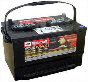 Батарея аккумуляторная, 650а FORD арт. BXT65650