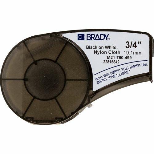 Лента красящая Brady M21-750-499 brd110895 универсальная для маркировки кабеля, 19.05mm/4.87m, нейлон, черный на белом для BMP21