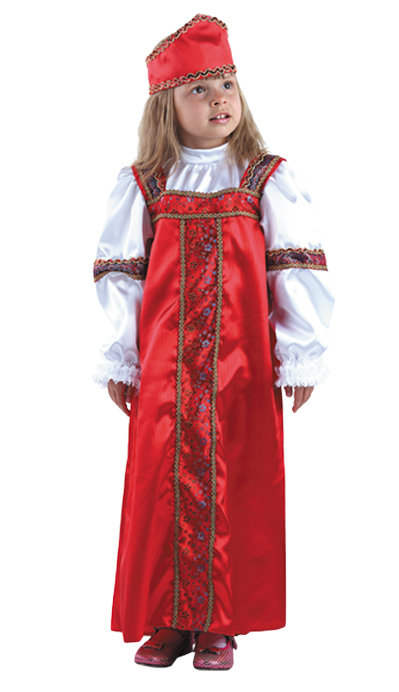 957e9a9184d Карнавальный костюм для детей Батик русский народный Марья-искусница де…