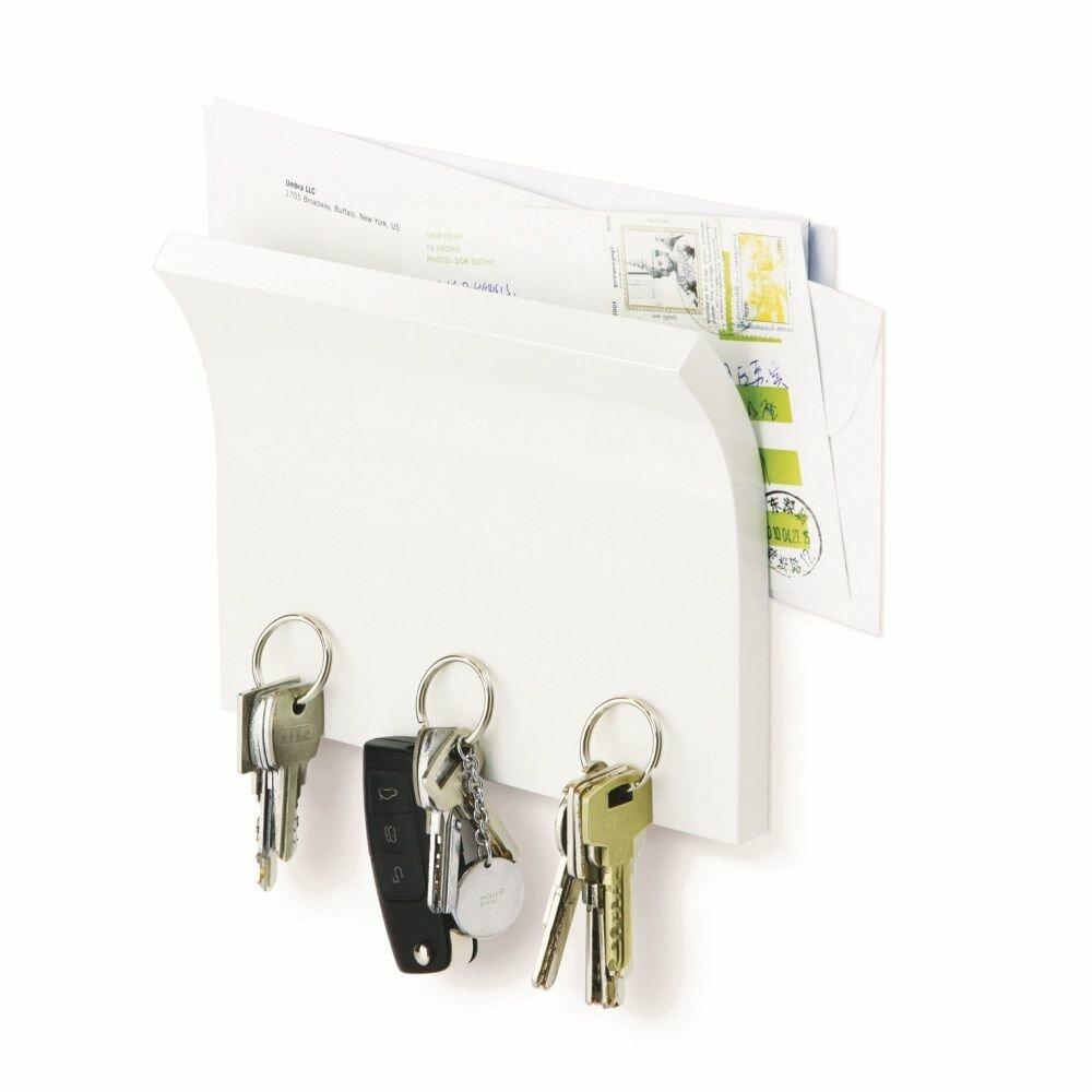 Держатель для ключей и писем magnetter белый