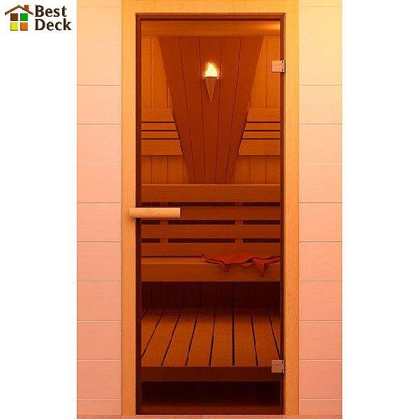 Дверь стеклянная для бани/сауны 1900х700 мм (Стекло: Глянцевое)