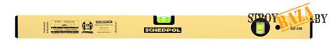 """Уровень """"Schedpol"""" золотистый люкс 2 глазка, 80см"""