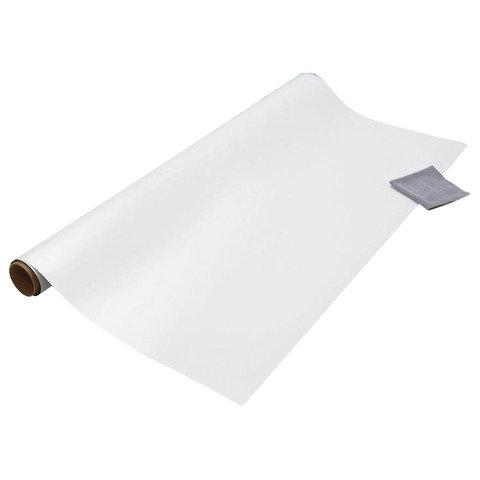 Доска-панель маркерная, самоклеящаяся, бумажная, белая в рулоне, 45х100 см