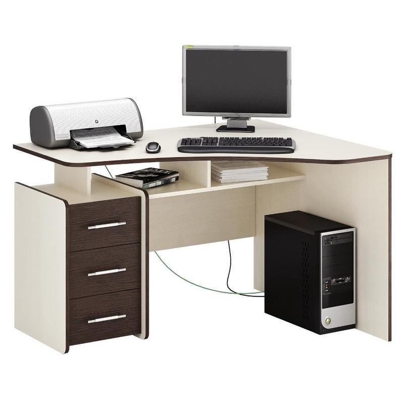 Компьютерный стол со шкафчиками СК-14 цвет Орех 130/60/202