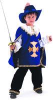 Карнавальный костюм для детей Батик Мушкетер синий детский, 32 (122 см)