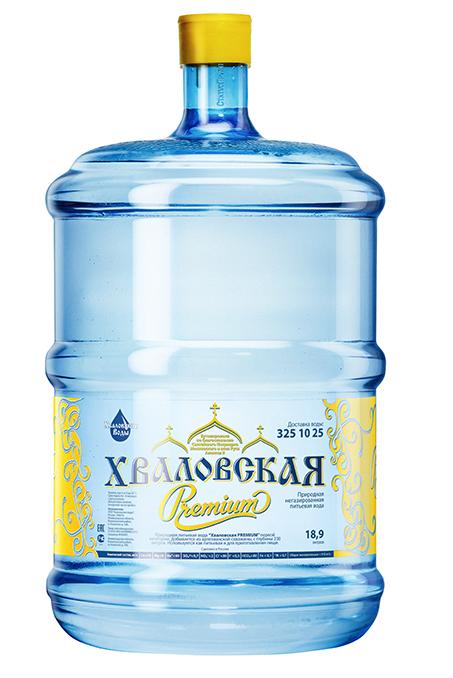 Питьевая природная вода для кулера 19 литров Хваловская Premium