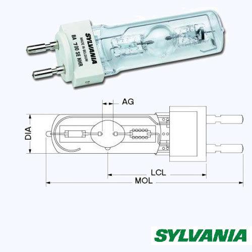 Лампа Sylvania G22 700Вт
