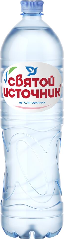 Вода питьевая Святой Источник негазированная, ПЭТ (1,5л*6шт)