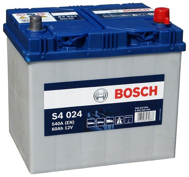 Аккумулятор BOSCH S4 024 560 410 054 обратная полярность 60 Ач
