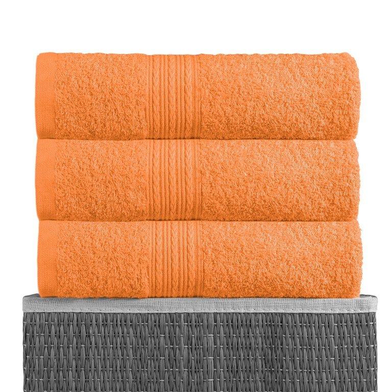 Полотенце Оранжевый, ткань махра, размер 100х180 1шт., BAYRAMALY