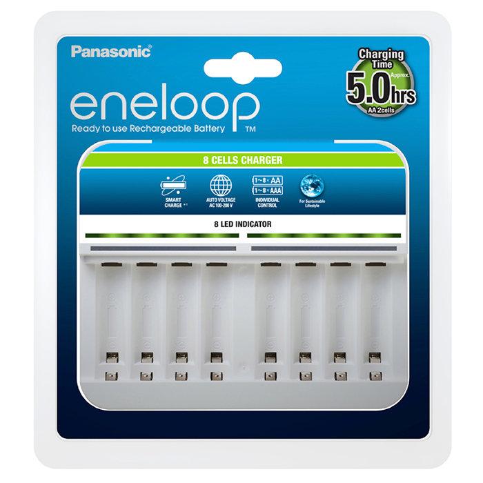Зарядное устройство 8 аккумуляторов Panasonic Eneloop 8 Cells Charger BQ-CC63E Panasonic Eneloop 944-02