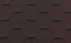 Гибкая битумная черепица RoofShield Стандарт Classic Коричневый с оттенением