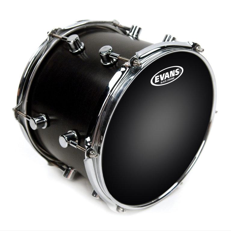 TT12CHR Black Chrome Пластик для том барабана 12