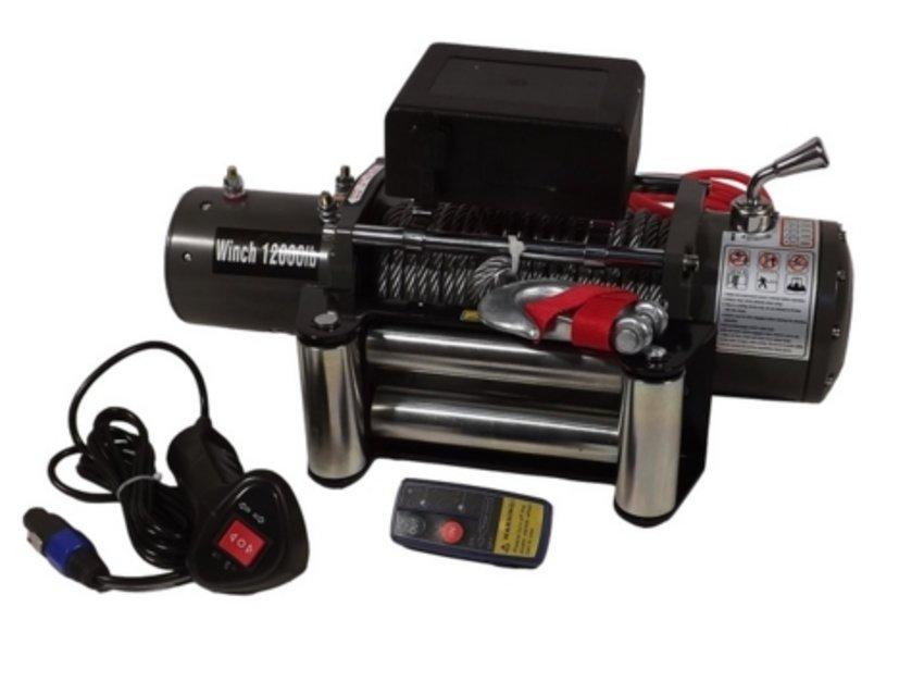 Лебёдка электрическая 12V Electric Winch 12000 lbs 5443 кг (влагозащищенная) 4413