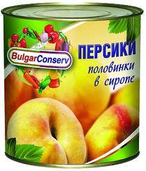 Персики Булгарконсерв половин. в сиропе 800г