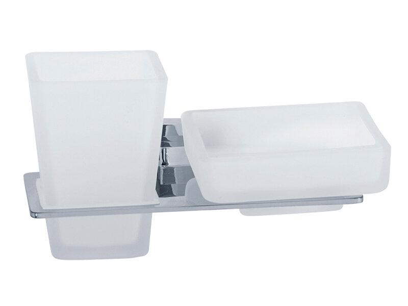 Стакан для ванны VERAGIO RAMBA VR.RMB-4943.CR Стакан с мыльницей настенный, хром/стекло