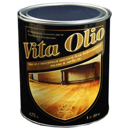 Vita Olio Масло с твёрдым воском для деревянных полов и мебели (0.75 литров)