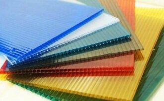 Поликарбонат сотовый 4мм цветной 2100х6000мм