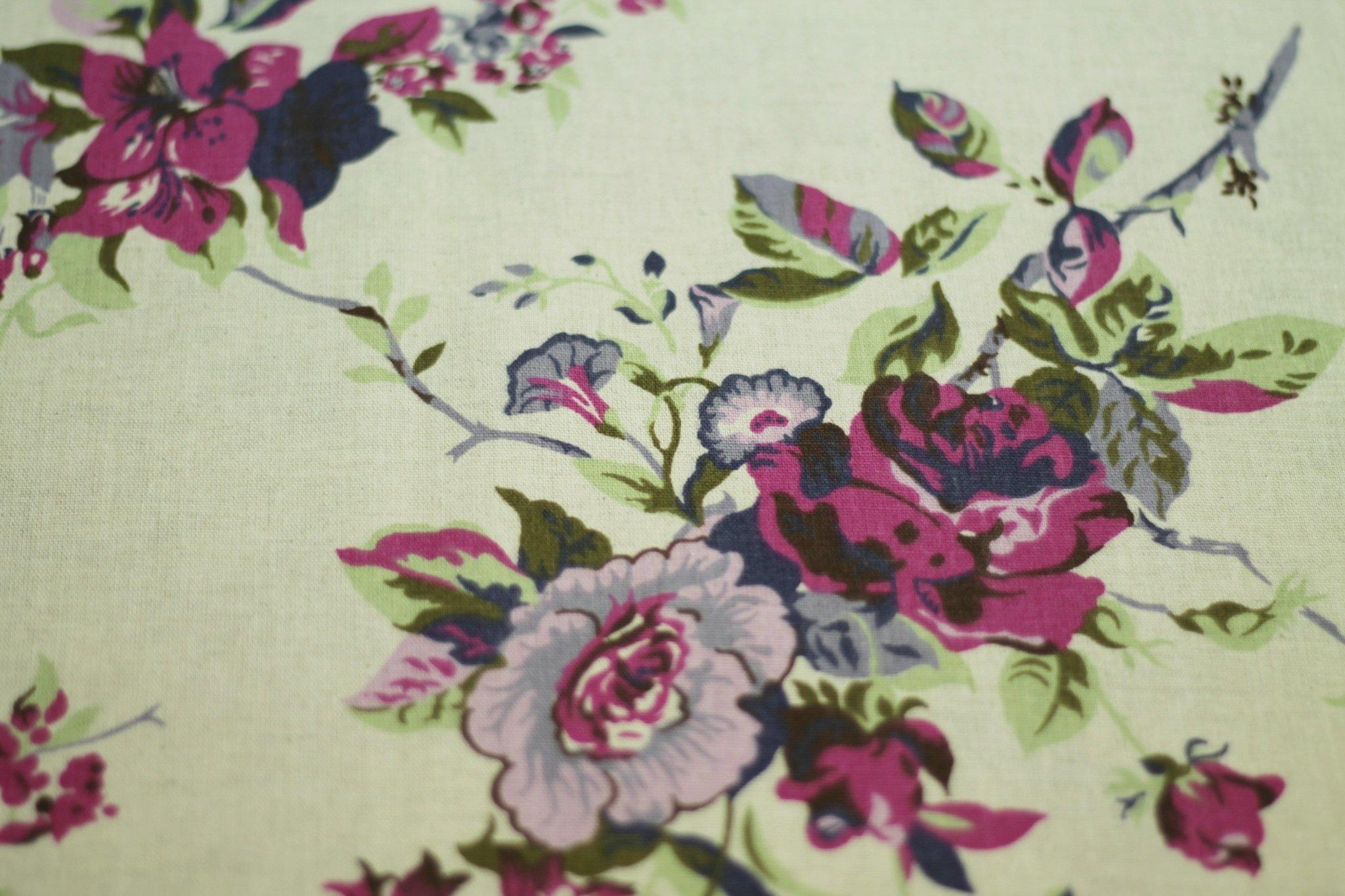 Ткань льняная Венецианская роза