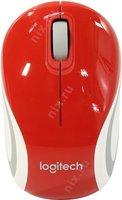 Мышь Logitech Wireless Mini Mouse M187 Red-White USB