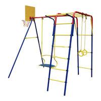 Спортивно-игровой комплекс Пионер Детский спортивный комплекс -дачный Юла ТК, с металлическими качелями