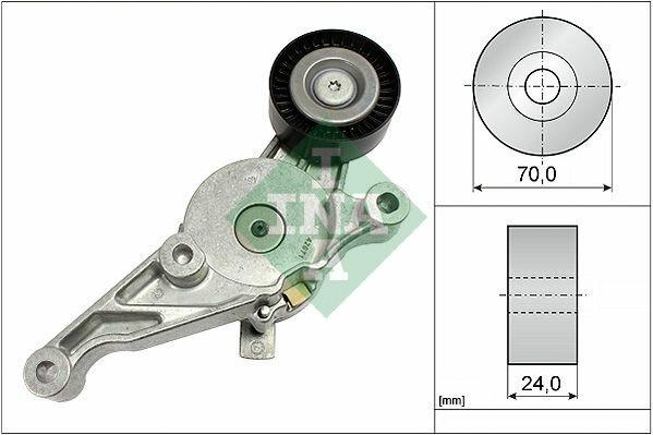 Ролик натяжной ремня генератора с механизмом VW Passat/Golf/Touran/T5 1.9/2.0TDi 04 INA 534 0151 10
