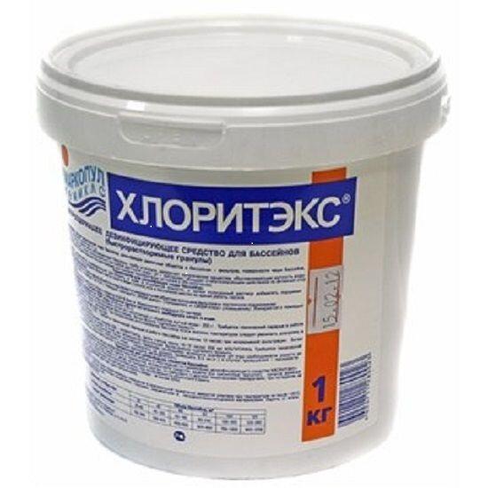 Дезинфицирующее средство Маркопул кемиклс Хлоритэкс на основе органического хлора (1 кг)