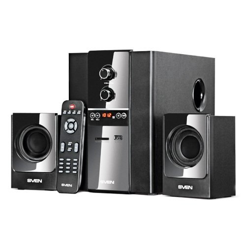 Колонки 2.1 Sven MS-1820, аудио система 40 Вт, usb, SD, пульт ДУ, FM-радио
