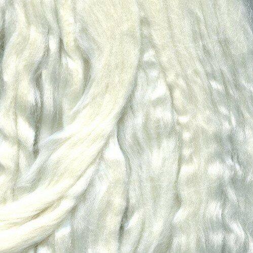 Шерсть для валяния натуральный шелк 100% (отбелка), арт. 0001