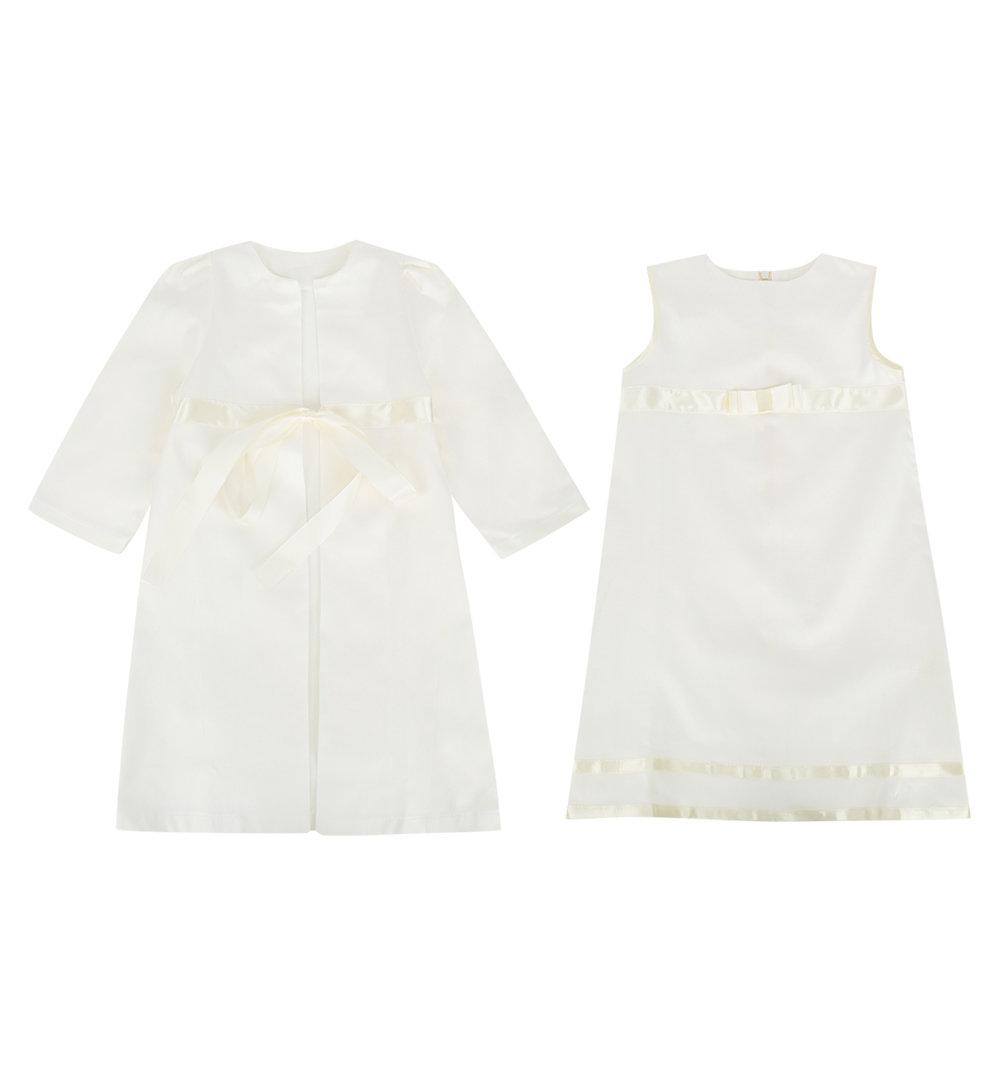 Платье крестильное Ангел Мой цвет: бежевый, для малышей, размер 74-80