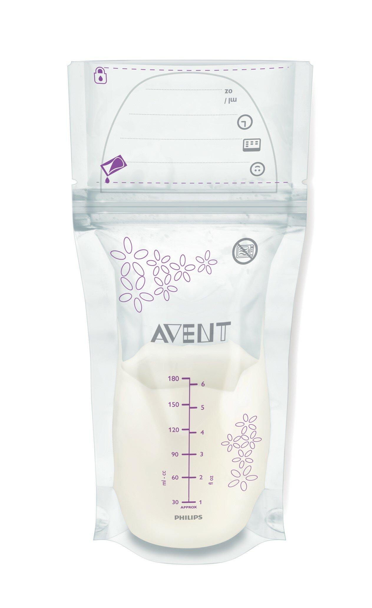 Контейнеры Пакеты для хранения грудного молока Philips AVENT 180 мл 25 шт.