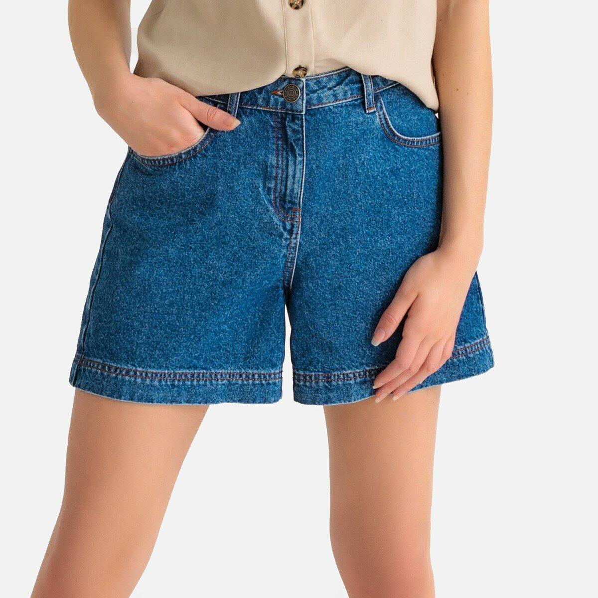 Шорты La Redoute Из джинсовой ткани
