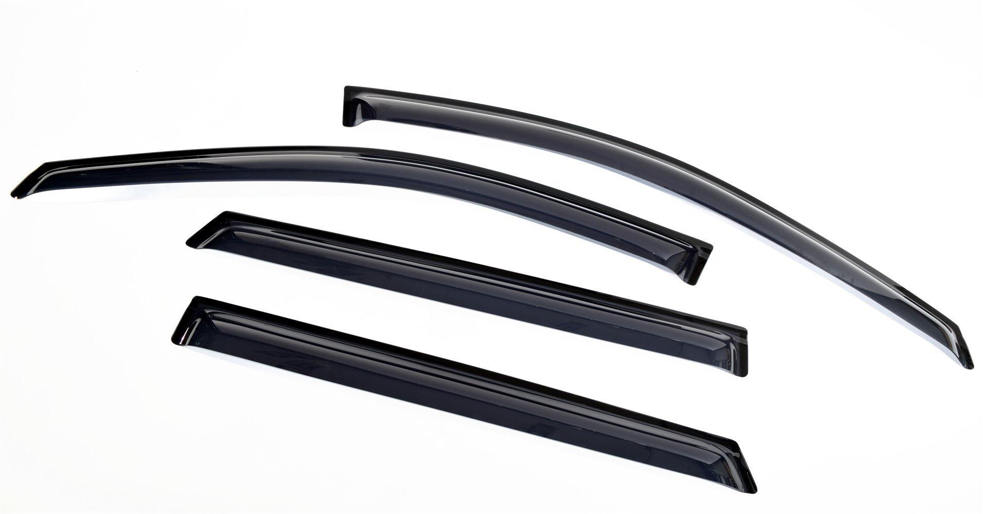 Дефлекторы боковых окон Hyundai Grand Santa Fe (2013- / 2015- ) (4шт.) (темн.)