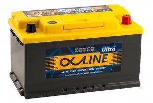 Автомобильный аккумулятор AlphaLINE Ultra 80RS 800А обратная полярность 80 Ач (315x175x175)