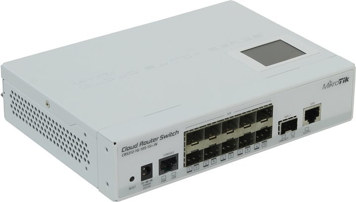 Роутер MikroTik Cloud Router Switch CRS212-1G-10S-1S+ IN