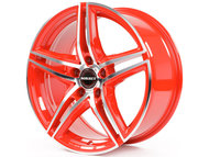 Диски Borbet XRT 8x17 ET45 5x112 d72.5 Red Front Polished - фото 1