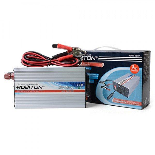 Инвертор автомобильный 12-220В ROBITON R300 PSW 300Вт на 1 розетку чистая синусоида Robiton 1103-02