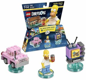 LEGO Dimensions Level Pack - The Simpsons (Homer's Car, Homer, Taunt-o-Vision)