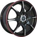 Литые диски NZ Wheels F-56 6.5x16/5x108 D63.3 ET50 Черный+красный - фото 1