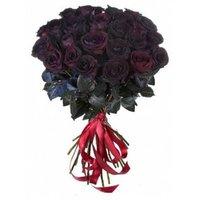 Букет из 25 чёрных роз