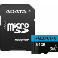 Карта памяти Adata Premier microSDXC 64Gb Class 10 UHS-I U1 (85/25MB/s) + ADP