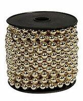 Бусы пластиковые бисер золотые, 8 мм, 10 м, KAEMINGK 000156