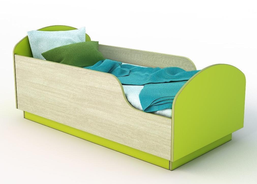 Детская Кровать Малыш 140 Зеленый