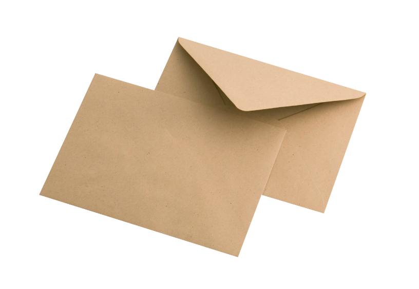 Крафт конверт, С6 (114*162мм), декстрин, клапан треугольный. Конверты - в упаковке 1000 шт.