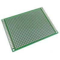 Печатная плата для прототипов 6x8 см двусторонняя